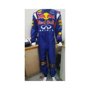 Red Bull Sublimation Go Kart Race Suit Blue
