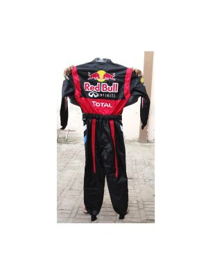Red Bull Black Embroidered Go Kart Race Suit