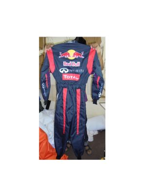 Red Bull Navy Style One Embroidered Go Kart Race Suit
