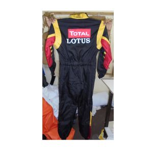 Lotus Embroidered Go Kart Race Suit