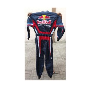 Red Bull Navy Style Two Embroidered Go Kart Race Suit