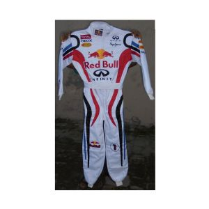 Red Bull White Style Two Embroidered Go Kart Race Suit