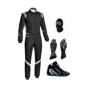 Sparco Go Kart Race Suit With Shoes & Gloves